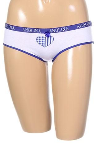 andlina shortys et boxers femme de couleur bleu