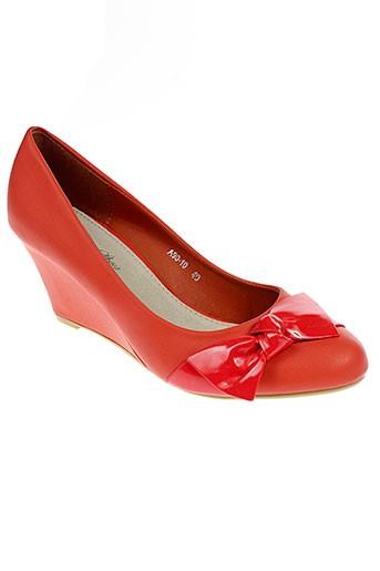 alicia et shoes escarpins femme de couleur orange