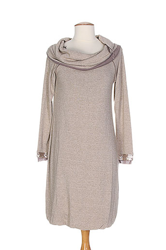alan red robes femme de couleur beige