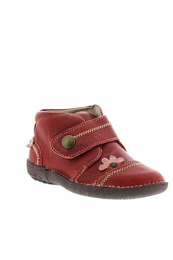 noel boots fille de couleur rouge