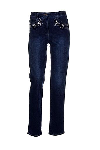 bianca jeans femme de couleur bleu