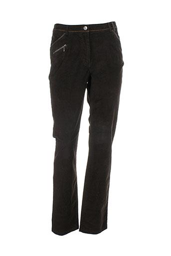 felino pantalons femme de couleur marron