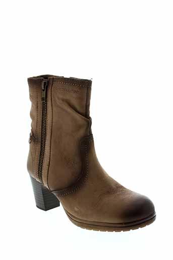 stressless bottines femme de couleur marron