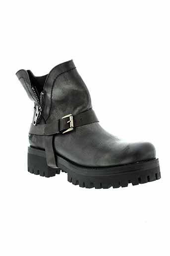 mtng boots femme de couleur noir