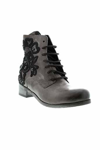 mimmu boots femme de couleur gris