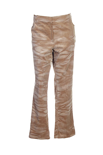 Pantalon casual beige CARA SARTA pour femme