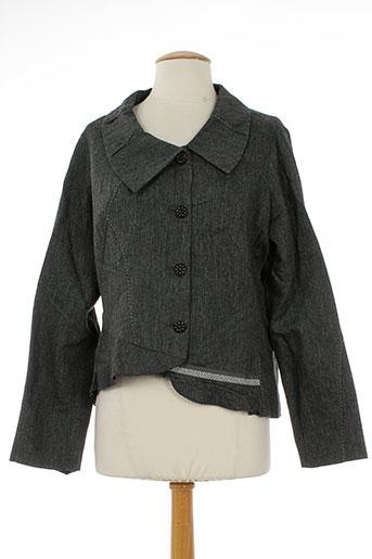 imprevu vestes femme de couleur gris