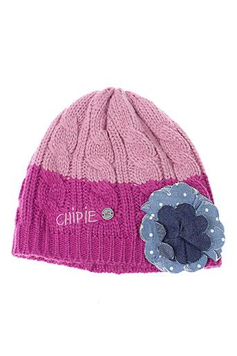 chipie chapeaux et bonnets fille de couleur rose