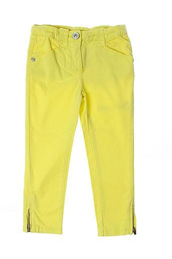 kenzo pantalons fille de couleur jaune