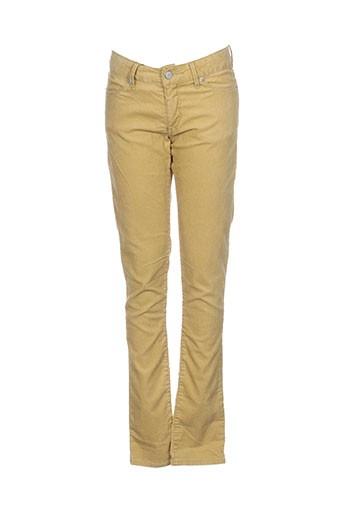 bellerose pantalons fille de couleur jaune