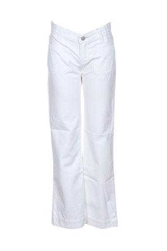 bellerose jeans fille de couleur blanc