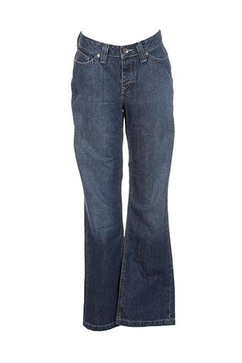teddy smith industry jeans fille de couleur bleu