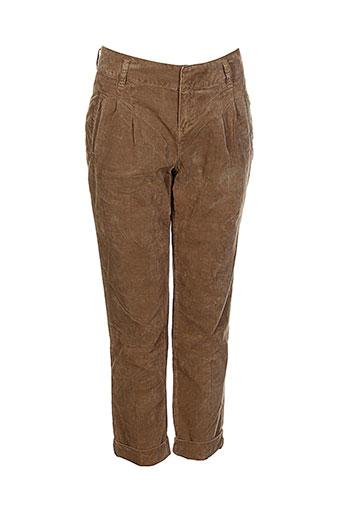 soeur pantalons fille de couleur marron