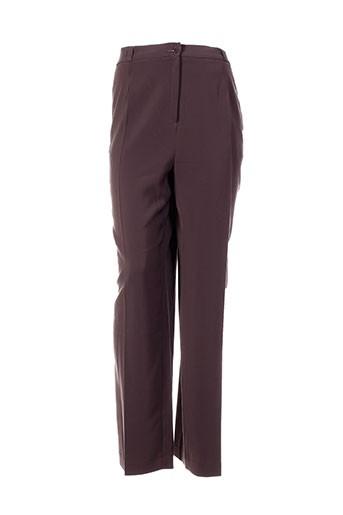 Pantalon chic marron ELSSA pour femme