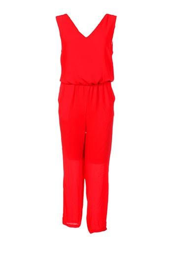 les bonheurs de sophie combinaisons femme de couleur rouge