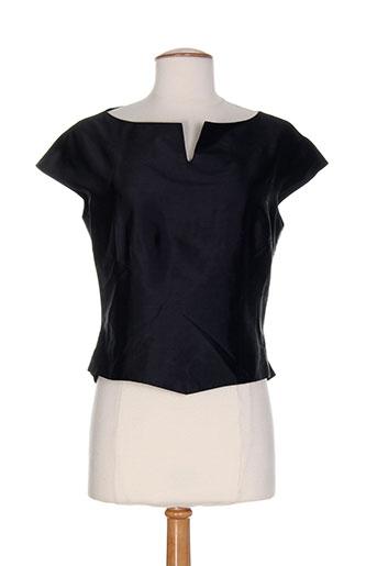 christie de la rue chemises femme de couleur noir
