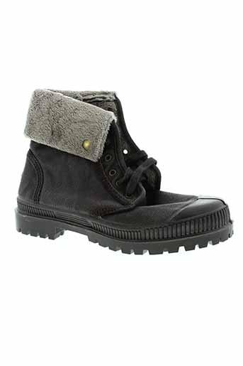 natural et world boots femme de couleur noir