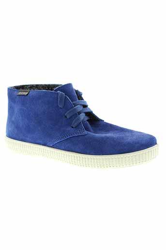 victoria boots femme de couleur bleu