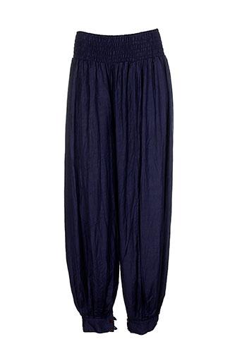 aller et simplement pantalons et decontractes femme de couleur bleu