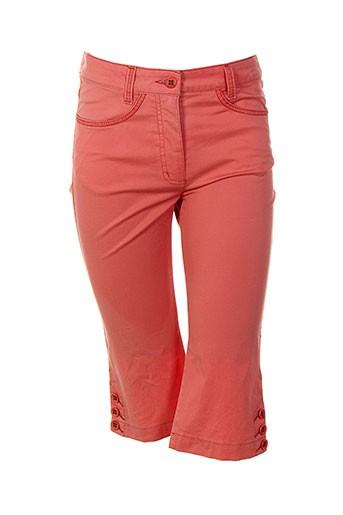 bianca shorts / bermudas femme de couleur orange