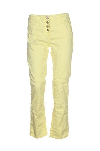 elisa et cavaletti pantalons et decontractes femme de couleur jaune