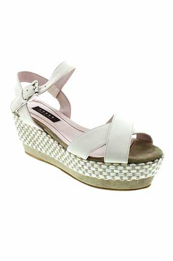 logan chaussures femme de couleur blanc