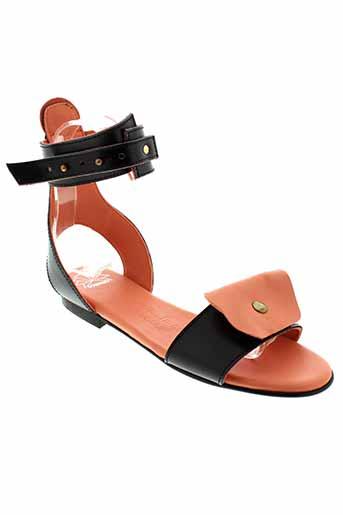 scarparo sandales et nu et pieds femme de couleur orange