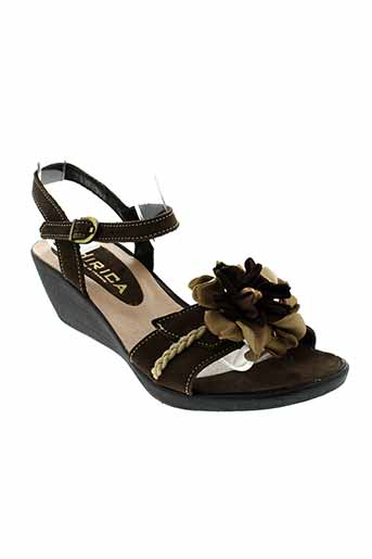 hirica sandales et nu et pieds femme de couleur marron
