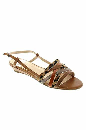sweet sandales et nu et pieds femme de couleur marron