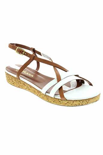 johann chaussures femme de couleur blanc