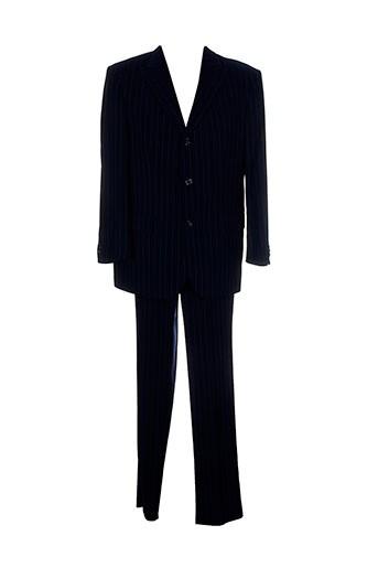 griffe et noire pantalon et veste homme de couleur bleu