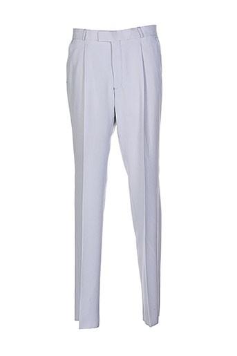 griffe noire pantalons homme de couleur gris