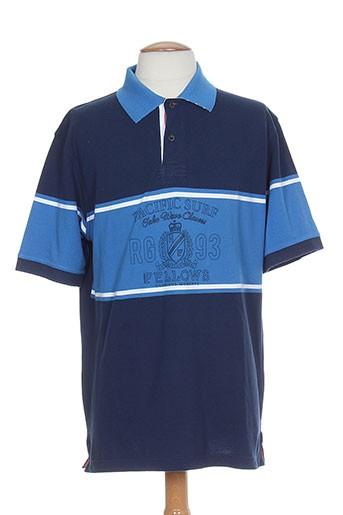 fellows t-shirts homme de couleur bleu