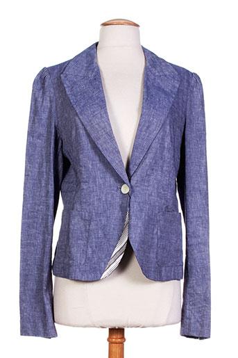 birger et mikkelsen vestes femme de couleur bleu