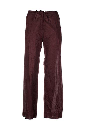 nathalie garcon pantalons femme de couleur marron