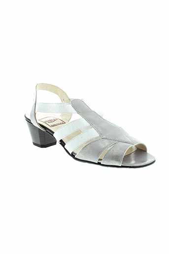 hasley sandales et nu et pieds femme de couleur gris