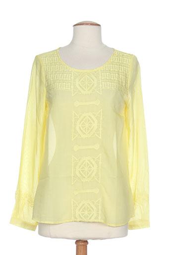 attentif t-shirts femme de couleur jaune
