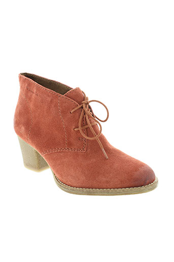 tamaris boots femme de couleur orange