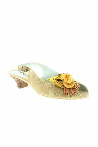 to.be chaussures femme de couleur beige