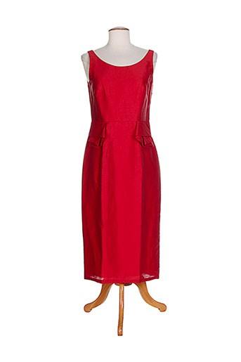 hug an' co robes femme de couleur rouge