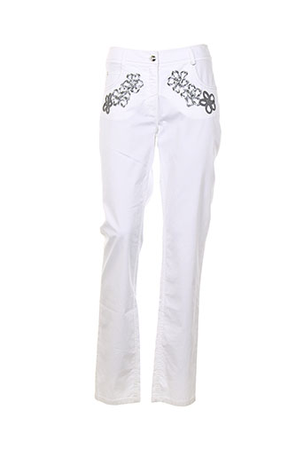 bleu blanc rouge pantalons femme de couleur blanc