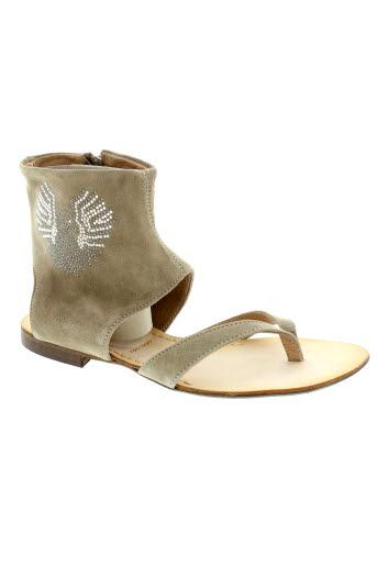 mally chaussures femme de couleur beige
