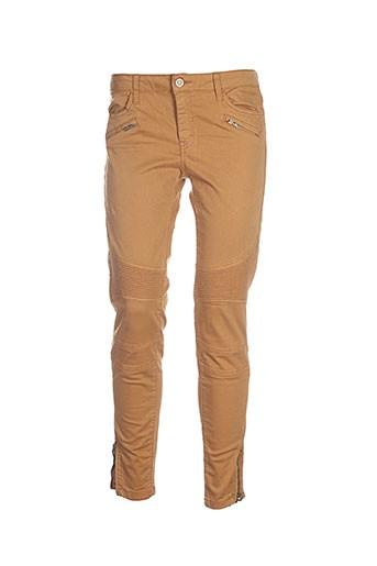corleone pantalons femme de couleur marron