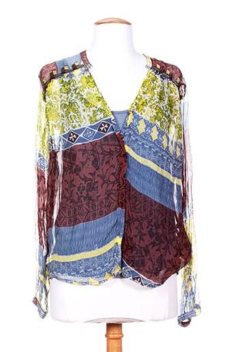 ambre babzoe t-shirts / tops femme de couleur bleu
