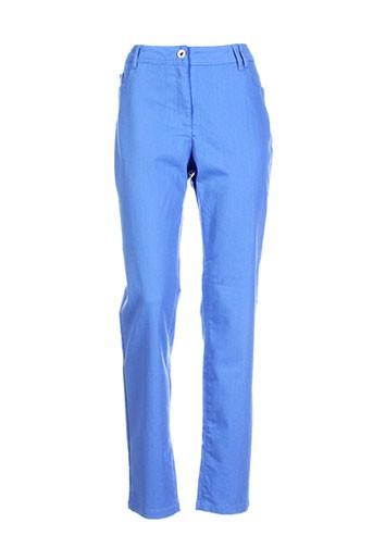 brandtex pantalons et decontractes femme de couleur bleu
