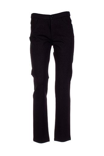 bariloche pantalons femme de couleur noir
