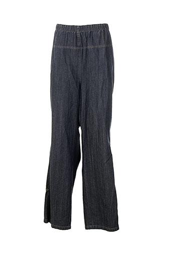 exelle pantalons femme de couleur bleu