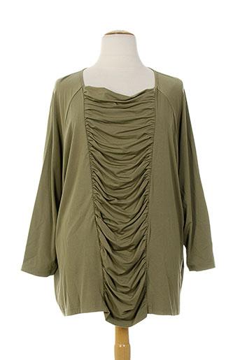 exelle t-shirts femme de couleur vert