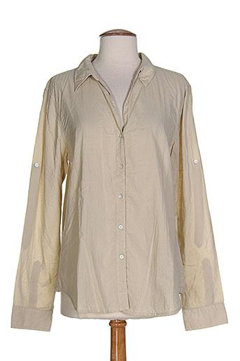 bensimon chemises femme de couleur beige