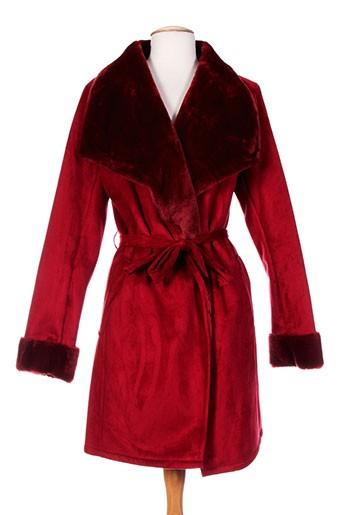 karting manteaux femme de couleur rouge